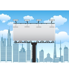 Billboard in city vector