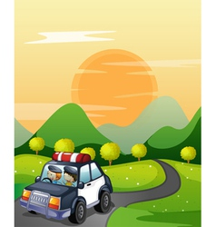 Car and road vector