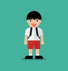 Cute cartoon boy vector