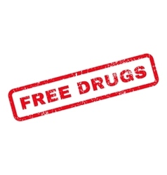 Free drugs text rubber stamp vector