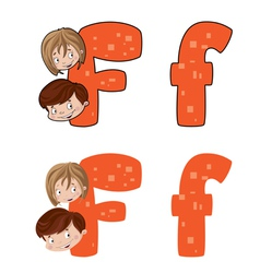 letter F face vector image