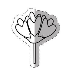 flower decoration image monochrome vector image