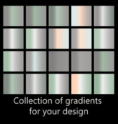 collection of metal gradients vector image