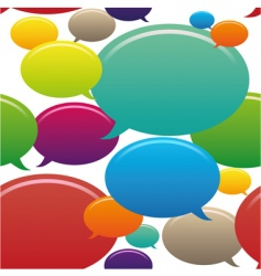 speech bubbles seamless pattern vector image