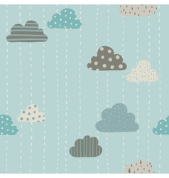 Funny clouds pattern vector