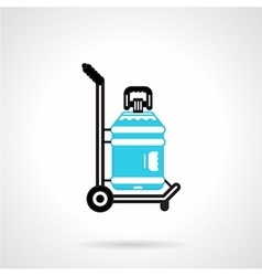 Water delivery black and blue icon vector