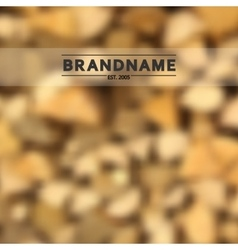 Blurred background of stacked fire wood vector