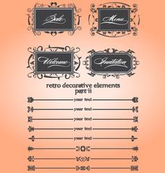 retro decorative remake ii vector image
