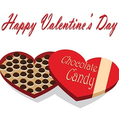 Valentines Day box of chocolate candy white vector image