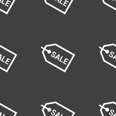 Sale icon sign seamless pattern on a gray vector