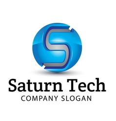 Saturn Tech Design vector image