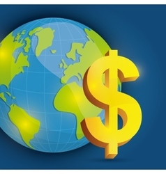 Money and global economy vector