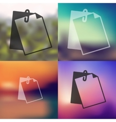 Clipboard icon on blurred background vector