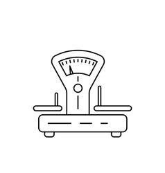 Linear icons of scales vector