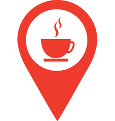 Coffee shop location pin isolated icon design vector