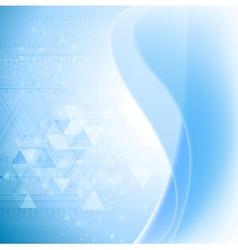 Abstract wavy tech background Gradient mesh vector image vector image