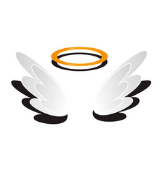 angel wings isolated icon vector image vector image