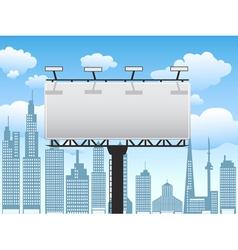 billboard in city vector image