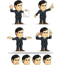 Businessman or Company Executive Customizable 7 vector image vector image