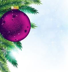 Christmas decoration on blue sparkling background vector