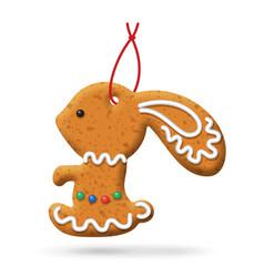 Christmas gingerbread icon vector