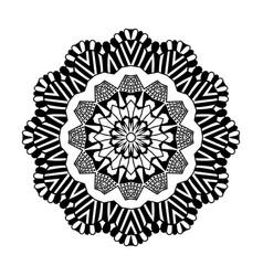 decorative hand drawn mandala ethnic decorative vector image