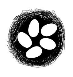 easter nest vector image