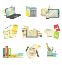 Education And Studies Related Set vector image