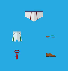 flat icon garment set of underclothes male vector image