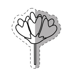 flower decoration image monochrome vector image
