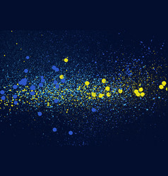 Graffiti speckled space background in blue yellow vector