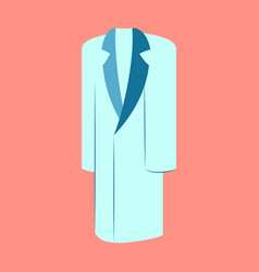 icon in flat design fashion clothes long coat vector image vector image
