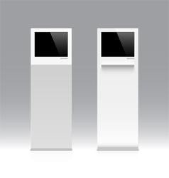 Information kiosk terminal stand vector