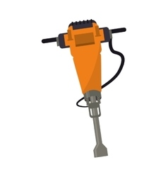 jackhammer construction tool design vector image vector image