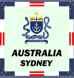 official government elements of australia - sydney vector image vector image