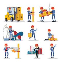 oil industry people set vector image vector image