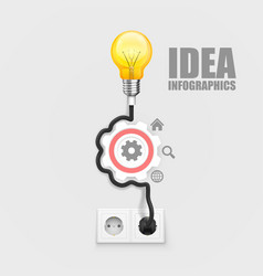 power socket lamp gear on a white background vector image