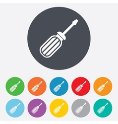 Screwdriver tool sign icon Fix it symbol vector image
