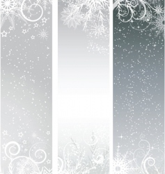 silver winter banners vector image vector image