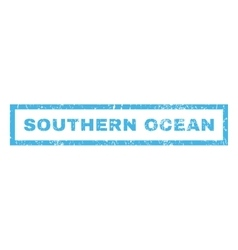 Southern ocean rubber stamp vector