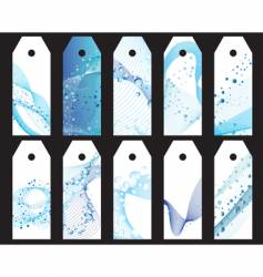 water bookmarks set vector image vector image