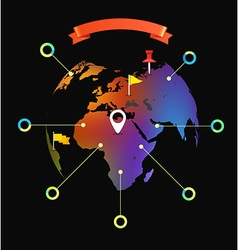 World map infographic template design elements vector