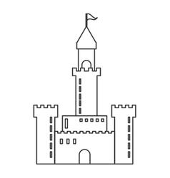 Large castle icon vector