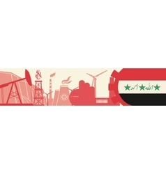 Energy and power icons set iran flag vector