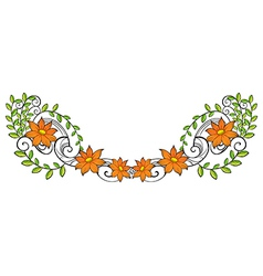 A flowery and leafy border vector