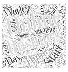 Reasons for starting a profitable home business vector