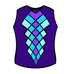 Blue vest icon icon cartoon vector