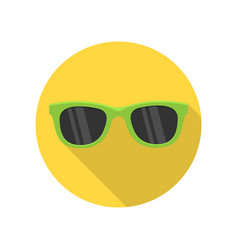 green sunglasses icon vector image