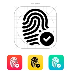 Fingerprint accepted icon vector
