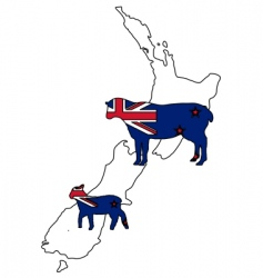 New zealand sheep vector